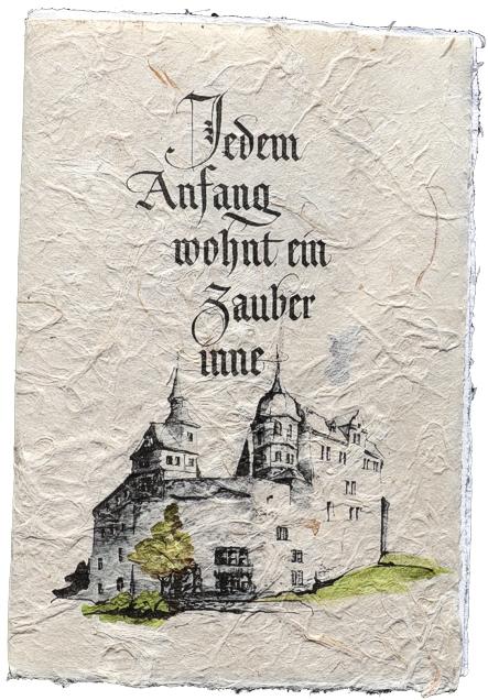 Transparentpapier Mit Banderole, Mittelalterliche Einladung