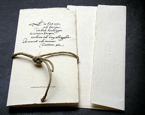 Mittelalterliche Hochzeitseinladung, Mittelalterliche Hochzeitseinladung