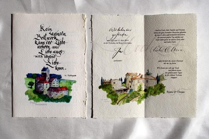 hochzeitseinladungen-handgeschrieben, Einladung